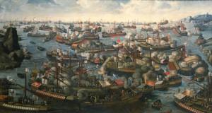 """""""Battle of Lepanto 1571"""" von Unbekannt – National Maritime Museum (BHC0261). Lizenziert unter Gemeinfrei über Wikimedia Commons"""