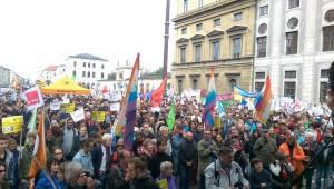 Blick von der Bühne – 23.000 Münchner gegen TTIP | CC BY 2.0 Nicole Britz