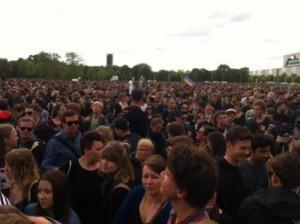 Es wirkt, als seien 30.000 Menschen auf den Beinen | CC BY Johannes Ponader