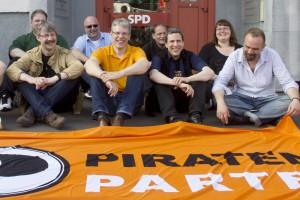 """Bundesvorstand der PP """"besetzt"""" Eingangsbereich des SPD-Büros"""