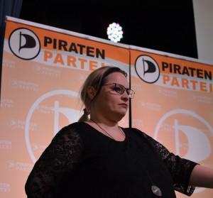 Nicole Britz auf dem Landesparteitag in Ismaning | CC BY 2.0 Manele Roser